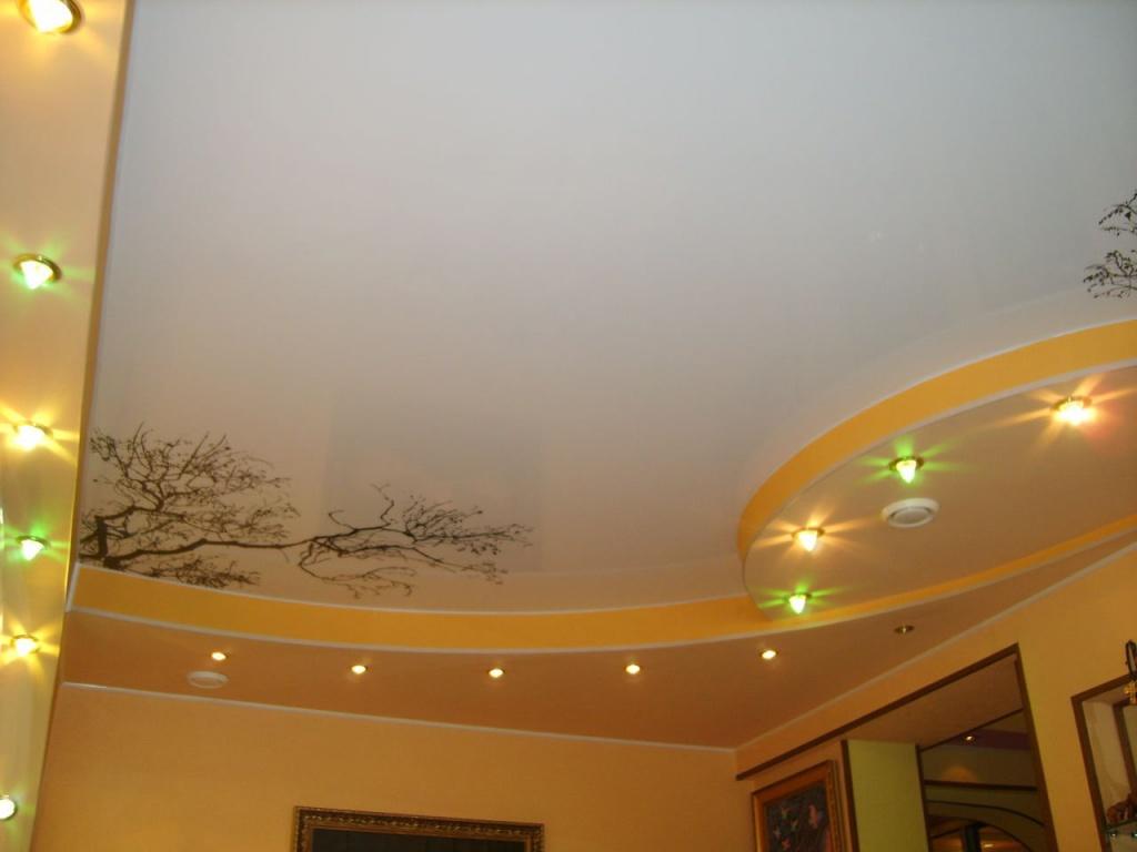 в натяжные потолки с перми рисунком